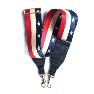 Red white and blue crossbody guitar strap🇺🇸